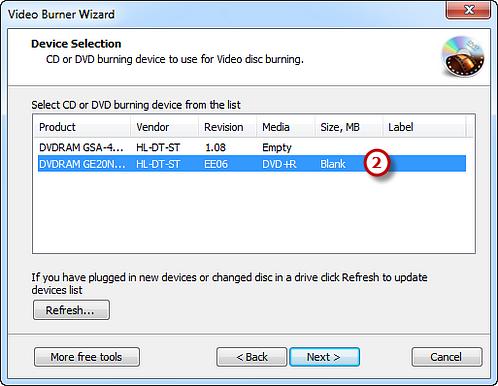 Select Burning Device