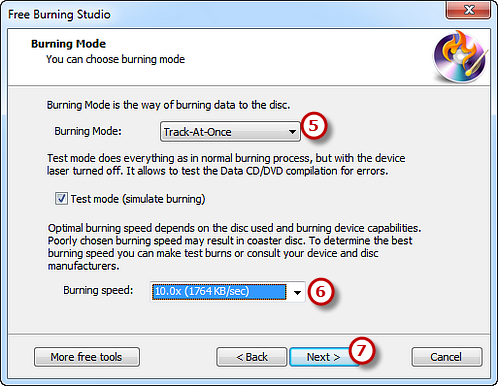 Select Burning Mode & Speed and Start Burning