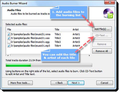 Add Audio Files