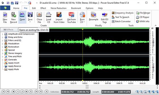 Add Audio File