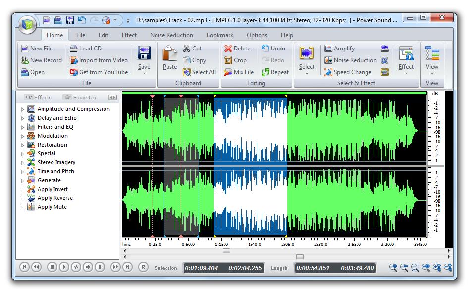 Power Sound Editor: Edita y mezcla sonidos