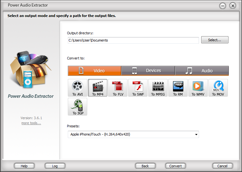 برنامج Power Audio Extractor 4.7.6