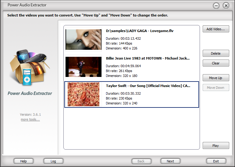 Click to view Power Audio Extractor 3.9.6 screenshot