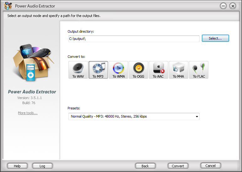 Power Audio Extractor full screenshot