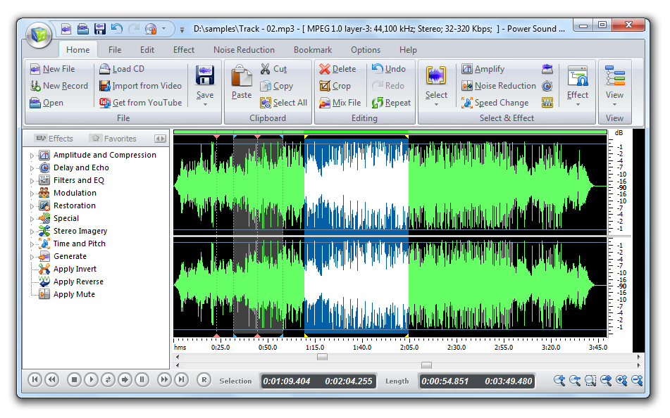 Click to view Power Sound Editor Free 7.6.1 screenshot